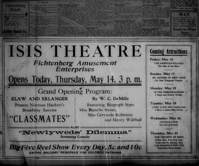 Isis theatre opening