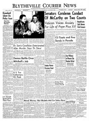 The Courier News from Blytheville, Arkansas on December 3, 1954 · Page 1