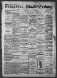 Sample Tennessee Staatszeitung front page