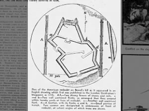 Plan of the American redoubt on Breed's Hill at Battle of Bunker Hill