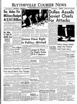 The Courier News from Blytheville, Arkansas on December 6, 1955 · Page 1
