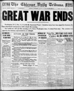 WWI Ends!