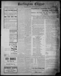 Sample Burlington Clipper front page
