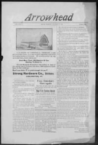 Sample Arrowhead front page