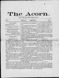 Sample The Acorn front page