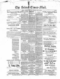 Sample The Selma Times-Mail front page
