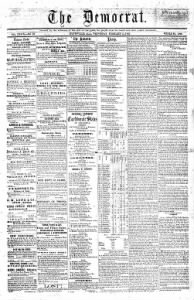Sample The Daily Huntsville Confederate front page