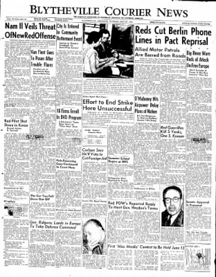 The Courier News from Blytheville, Arkansas on May 27, 1952 · Page 1