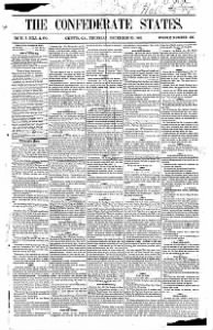 Sample The Confederate States front page