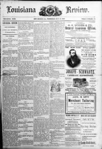 Sample Louisiana Review front page