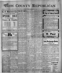 Sample Iron County Republican front page