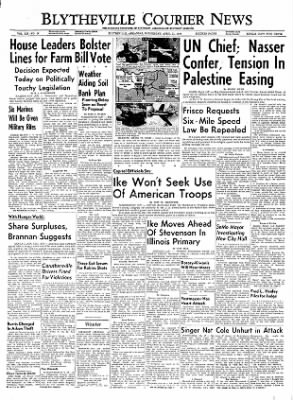 The Courier News from Blytheville, Arkansas on April 11, 1956 · Page 1