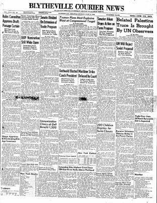 The Courier News from Blytheville, Arkansas on June 14, 1948 · Page 1