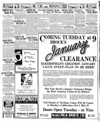 The Bakersfield Californian from Bakersfield, California on December 31, 1932 · Page 3