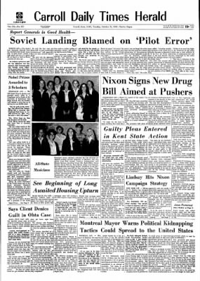 Carrol Daily Times Herald from Carroll, Iowa on October 27, 1970 · Page 1