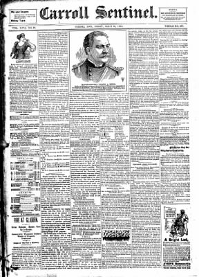 The Carroll Sentinel from Carroll, Iowa on March 30, 1894 · Page 1