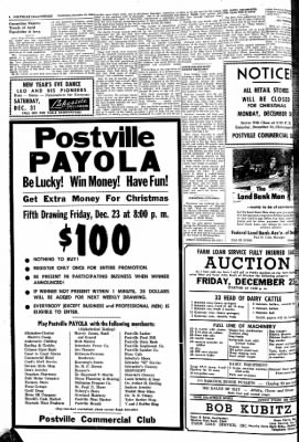 Postville Herald from Postville, Iowa on December 21, 1960 · Page 10