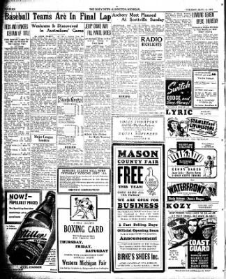 The Ludington Daily News from Ludington, Michigan on September 12, 1939 · Page 6