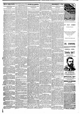 The Carroll Sentinel from Carroll, Iowa on March 30, 1894 · Page 5