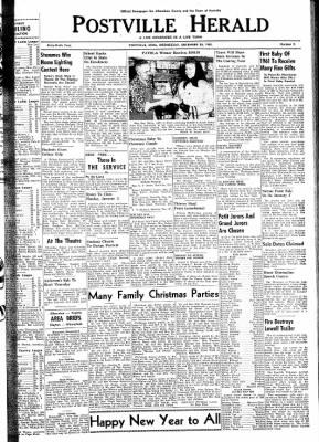 Postville Herald from Postville, Iowa on December 28, 1960 · Page 1