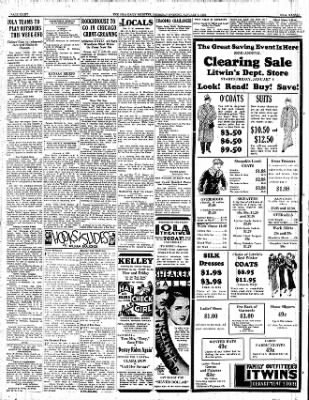 Iola Daily Register And Evening News from Iola, Kansas on January 5, 1933 · Page 8