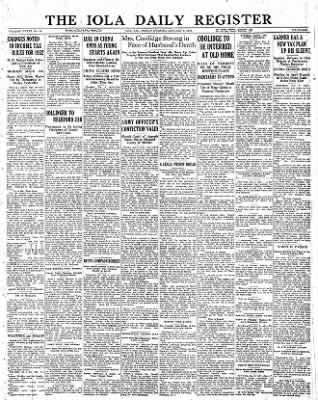 Iola Daily Register And Evening News from Iola, Kansas on January 6, 1933 · Page 1