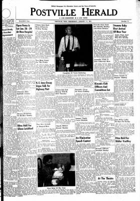 Postville Herald from Postville, Iowa on January 11, 1961 · Page 1
