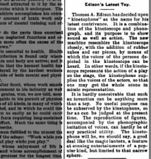 Opinion: Thomas Edison's kinetophone is seen as a