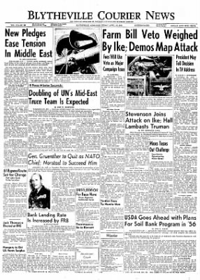 The Courier News from Blytheville, Arkansas on April 13, 1956 · Page 1