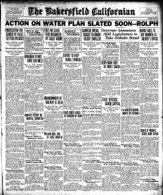 The Bakersfield Californian from Bakersfield, California on January 9, 1933 · Page 9