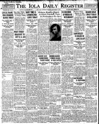 Iola Daily Register And Evening News from Iola, Kansas on December 17, 1927 · Page 1