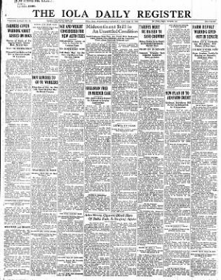 Iola Daily Register And Evening News from Iola, Kansas on January 25, 1933 · Page 1