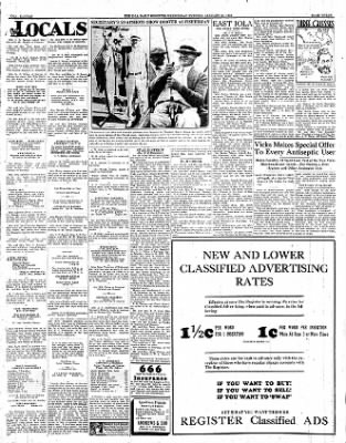 Iola Daily Register And Evening News from Iola, Kansas on January 25, 1933 · Page 3