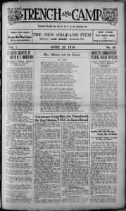Sample Trench and Camp front page