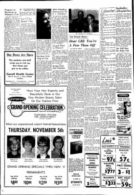 Carrol Daily Times Herald from Carroll, Iowa on November 3, 1970 · Page 4