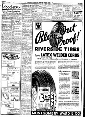 Ames Daily Tribune from Ames, Iowa on August 21, 1933 · Page 5