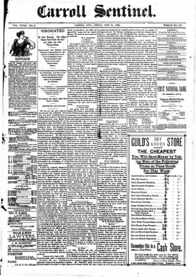 The Carroll Sentinel from Carroll, Iowa on June 15, 1894 · Page 1