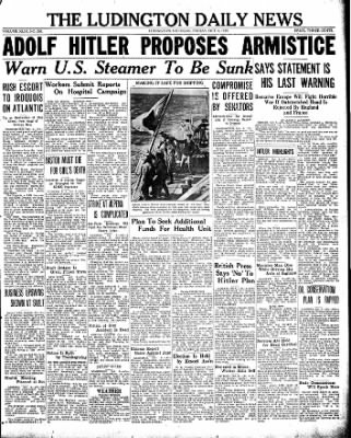 The Ludington Daily News from Ludington, Michigan on October 6, 1939 · Page 1