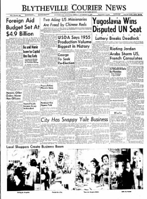 The Courier News from Blytheville, Arkansas on December 20, 1955 · Page 1