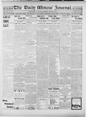 Miners Journal from Pottsville, Pennsylvania on August 2, 1898 · 1