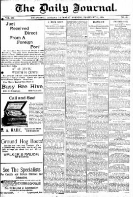 Logansport Pharos-Tribune from Logansport, Indiana on February 21, 1895 · Page 1