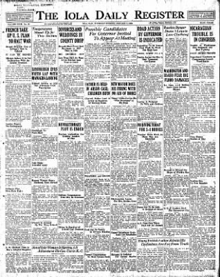 Iola Daily Register And Evening News from Iola, Kansas on January 5, 1928 · Page 1