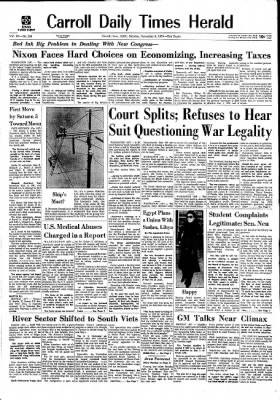 Carrol Daily Times Herald from Carroll, Iowa on November 9, 1970 · Page 1