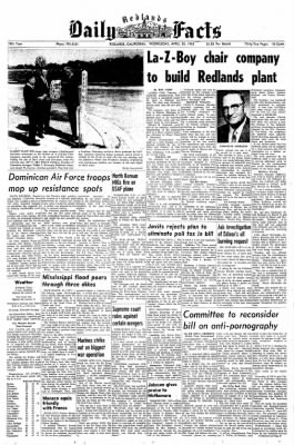 Redlands Daily Facts from Redlands, California on April 28, 1965 · Page 1
