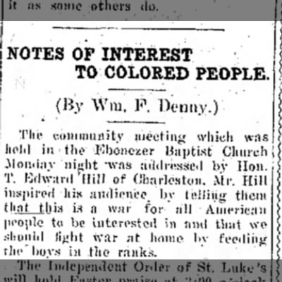Mar 28, 1918 The Raleigh Herald (Beckley WV)  - NOTES OP INTEREST TO COLORED PEOPLE. (By Wm. F,...