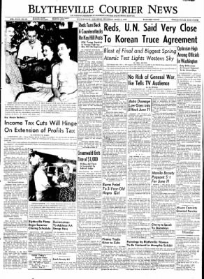 The Courier News from Blytheville, Arkansas on June 4, 1953 · Page 1