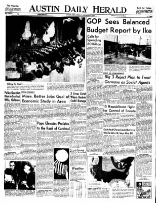 The Austin Daily Herald from Austin, Minnesota on December 15, 1958 · Page 1