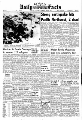 Redlands Daily Facts from Redlands, California on April 29, 1965 · Page 1