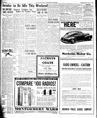 The Ludington Daily News from Ludington, Michigan on October 18, 1939 · Page 6