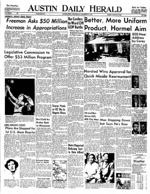 The Austin Daily Herald from Austin, Minnesota on December 17, 1958 · Page 1